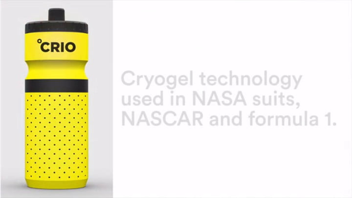 NASA-grade Insulation Key to the Crio Water Bottle's Cool