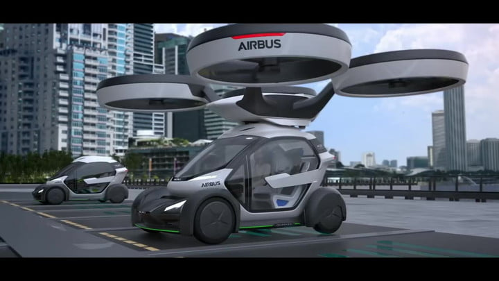 Airbus took the wraps off its futuristic flying car, and it's pretty insane