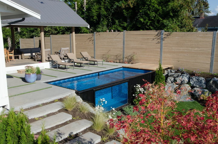 The Modpool is a Shipping Container Pool for Your Modern Home