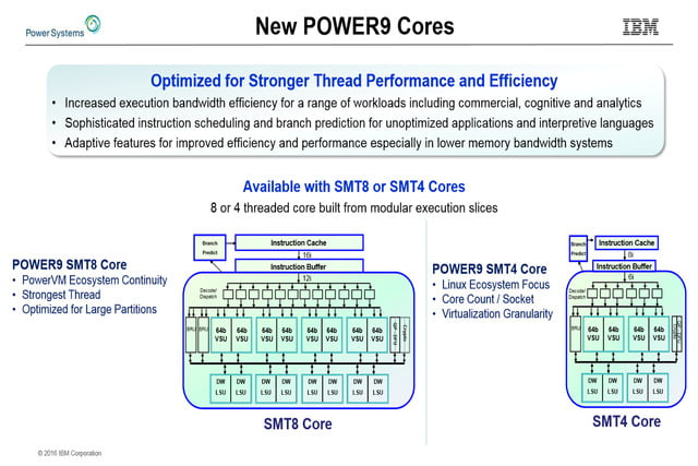 ibm power9 server processor architecture revealed hot chips 28 slide 2