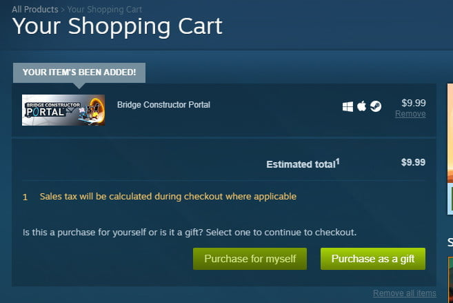 how to gift games on steam purchase as
