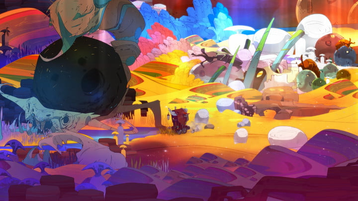 Pyre colorful