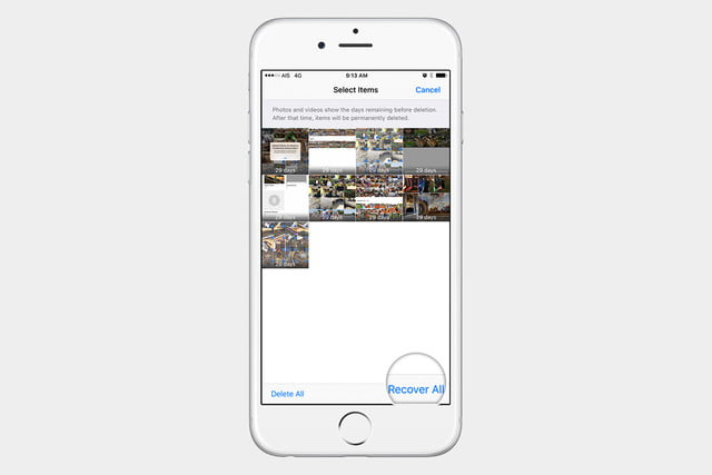 recover pictures in ios