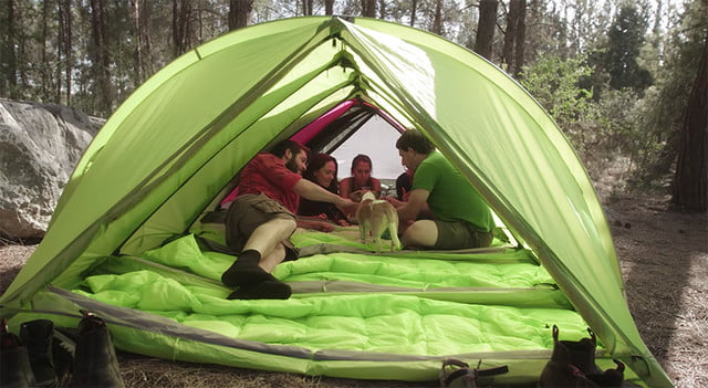 RhinoWolf Modular Attachable Super Tent inside