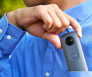 Shooting 360-degree video doesn't get any easier than with Ricoh's Theta V
