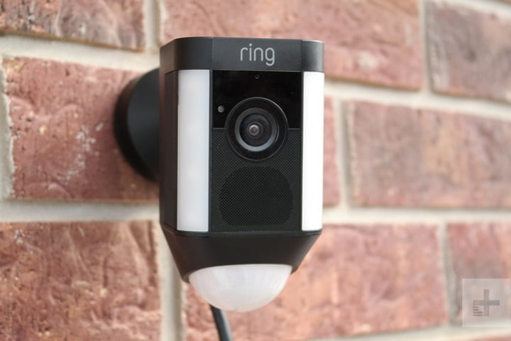 ring spotlight cam wired wall front