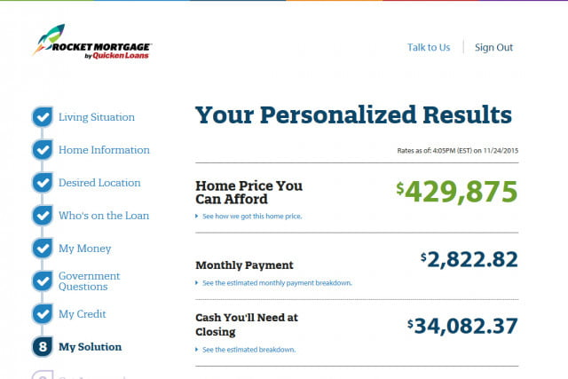 Give Quicken Loans New Website  Minutes And It Will Approve You