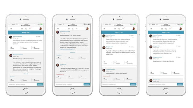 roust social network news and interview screens 2