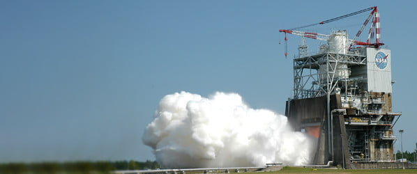 Witness the mighty power of NASA's RS-25 rocket engine
