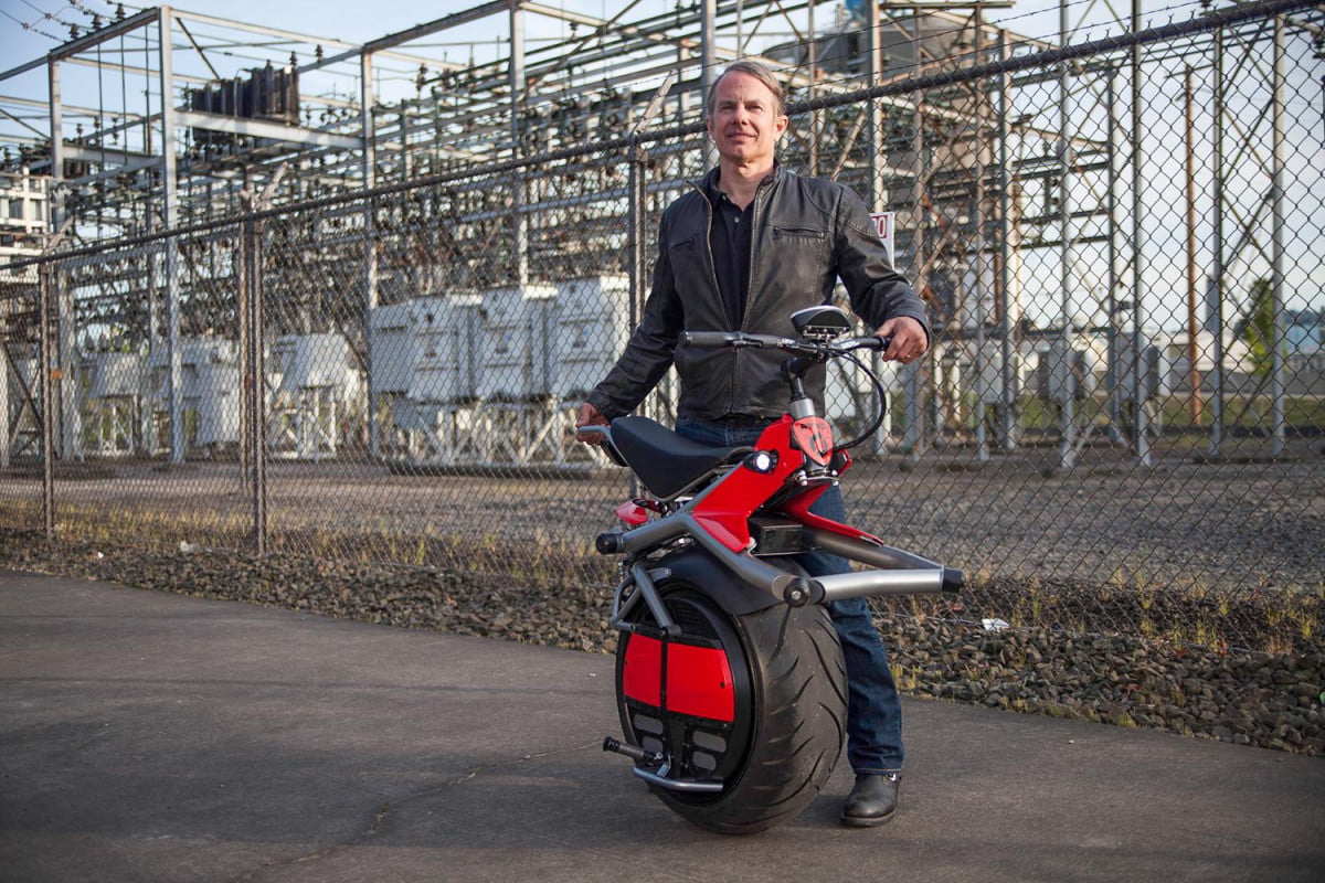 test riding the ryno self balancing one wheeled electric motorcycle motors chris hoffmann