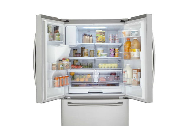 home depot chops samsung and lg french door fridge prices  24 6 cu ft refrigerator in stainless steel model rf263beaesr 02