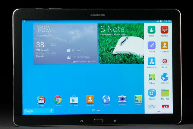 Samsung Galaxy 12.2 front home