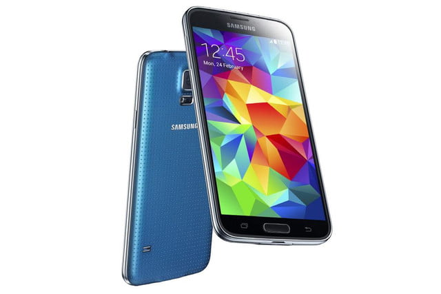 galaxy s5 makes debut samsung unpacked event mwc 2014 electric blue