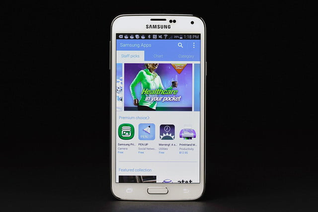 Samsung Galaxy S5 review android screen healthcare