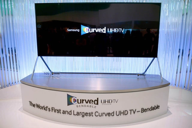 samsungs massive bending 4k tv flexes flat curved right front face samsung tv15