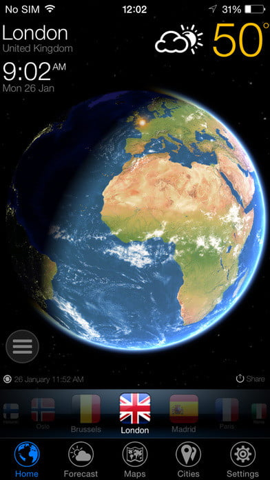 3d World Map App For Iphone. 3D Earth  daily app deals ios Daily iOS App Deals Get These 6 Paid Apps For Free Now Digital