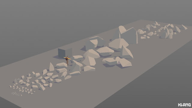 Seed Concept Art featuring different rock samples and sizes