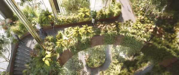 This high-tech skyscraper will be covered in vegetation