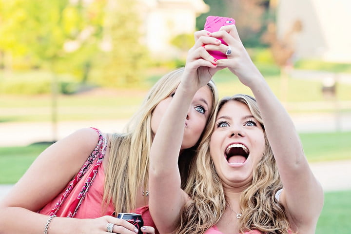 Image result for person taking selfie from snapchat