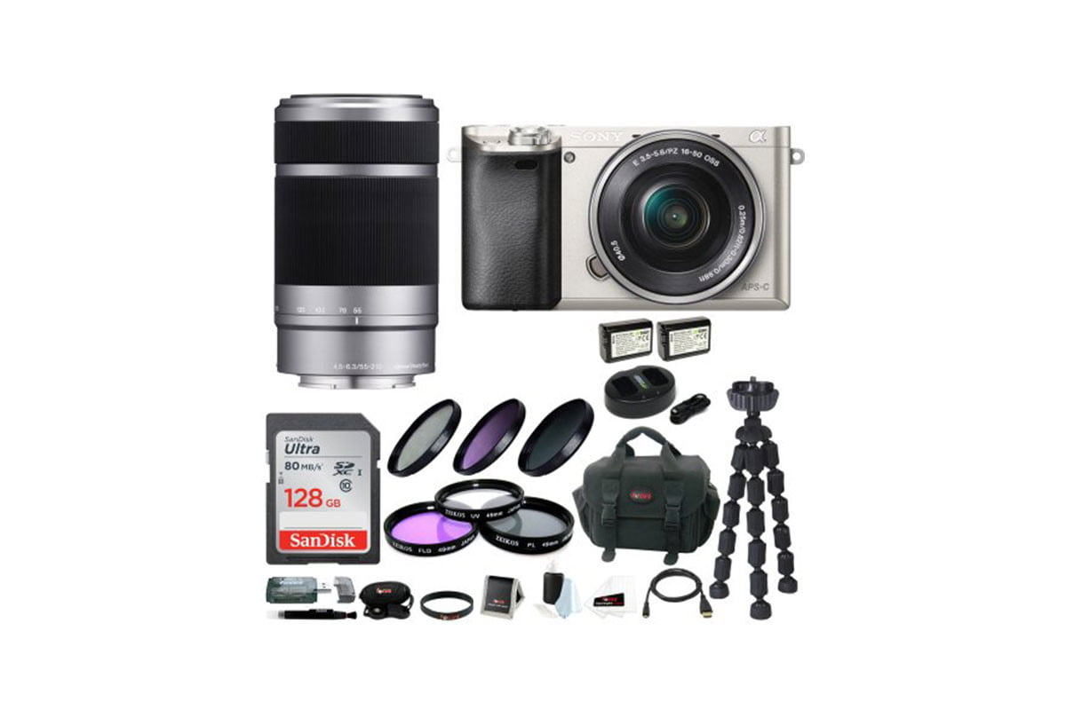 photograph a little of everything with sony alpha a6000 camera bundle mirrorless two lenses and128gb sd