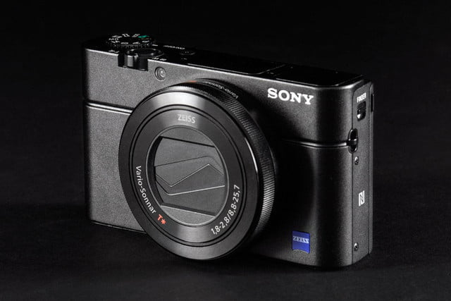 Sony Cybershot RX100 Mark III front angle powered off