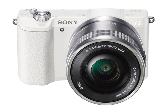 sony alpha 5100 ilce wselp1650 front top white
