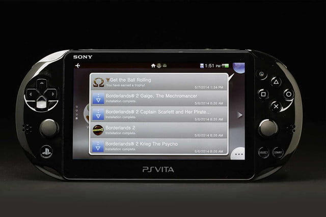 Sony PlayStation Vita Slim review front screen Borderlands
