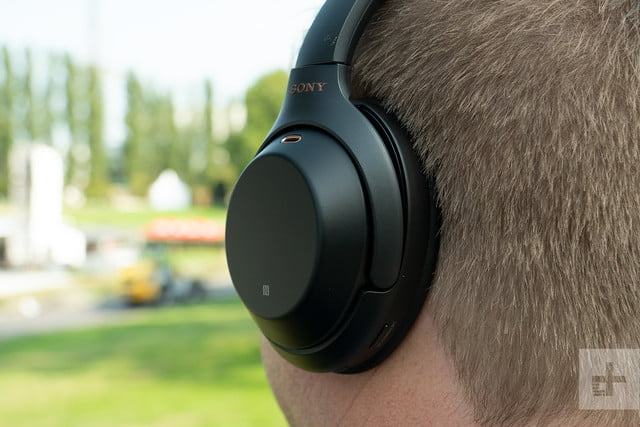 sony wh-1000x headphones left cup back