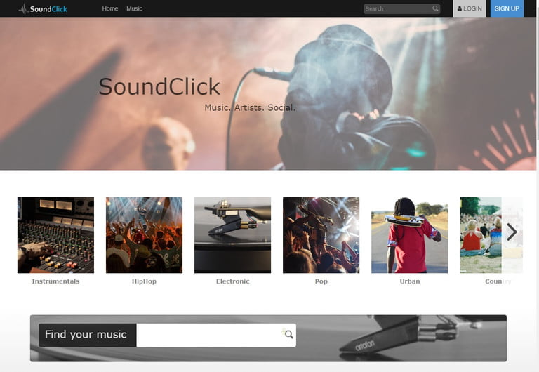 best free and legal music download sites soundclick screenshot