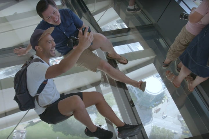 seattle space needle now has a revolving glass floor