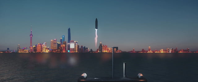 spacex bfr earth city travel elon musk