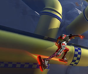'Sprint Vector' is 'Mario Kart' on sci-fi rollerblades in VR. And it's brilliant