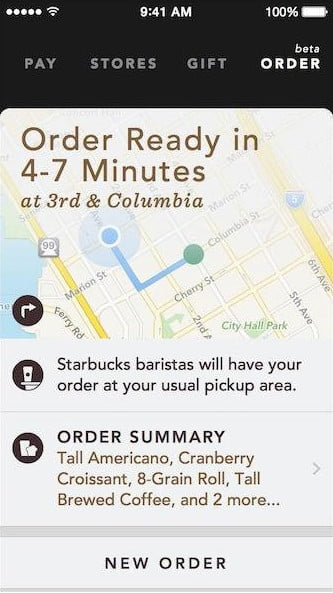 how to use starbucks app to order