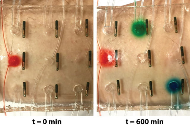 bandage of the future hydrogel delivers medicine automatically stretchable electronics 2