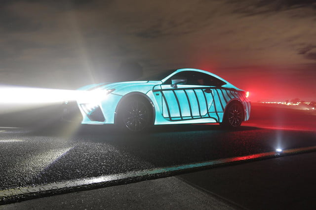 lexus rc f glowing heartbeat paint job pictures video techly lumilor coupe 2