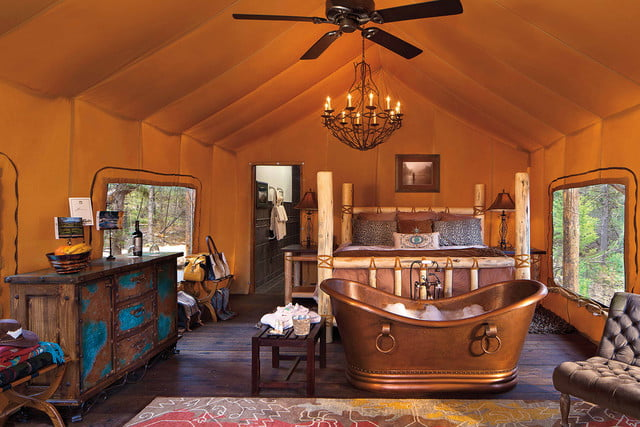 high tech glamping holiday ideas the resort at paws up  greenough montana
