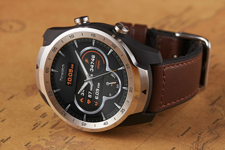 mobvoi ticwatch pro news brown strap