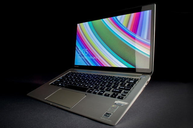 Toshiba Kirabook 2014 review screen front angle