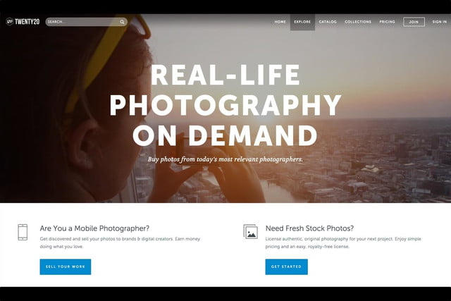 twenty20 wants to be the getty of mobile photography web home page