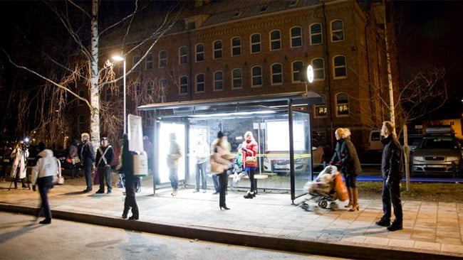 Light Therapy Bus Shelters Set To Cheer Up Swedes In