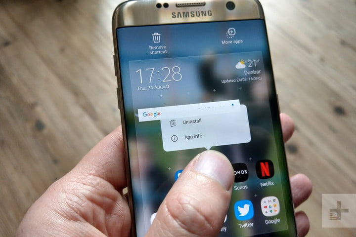How to uninstall Android app on a Samsung phone