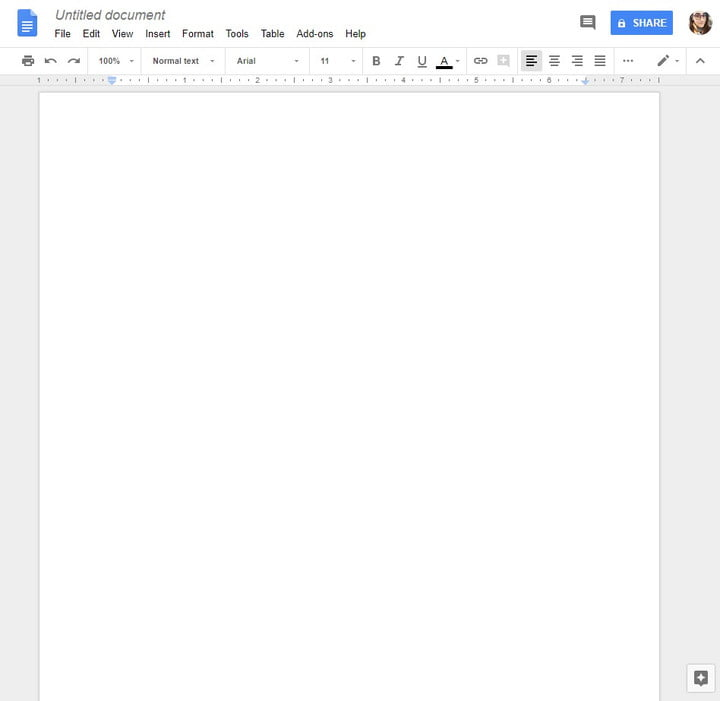 how to use google docs untitled doc