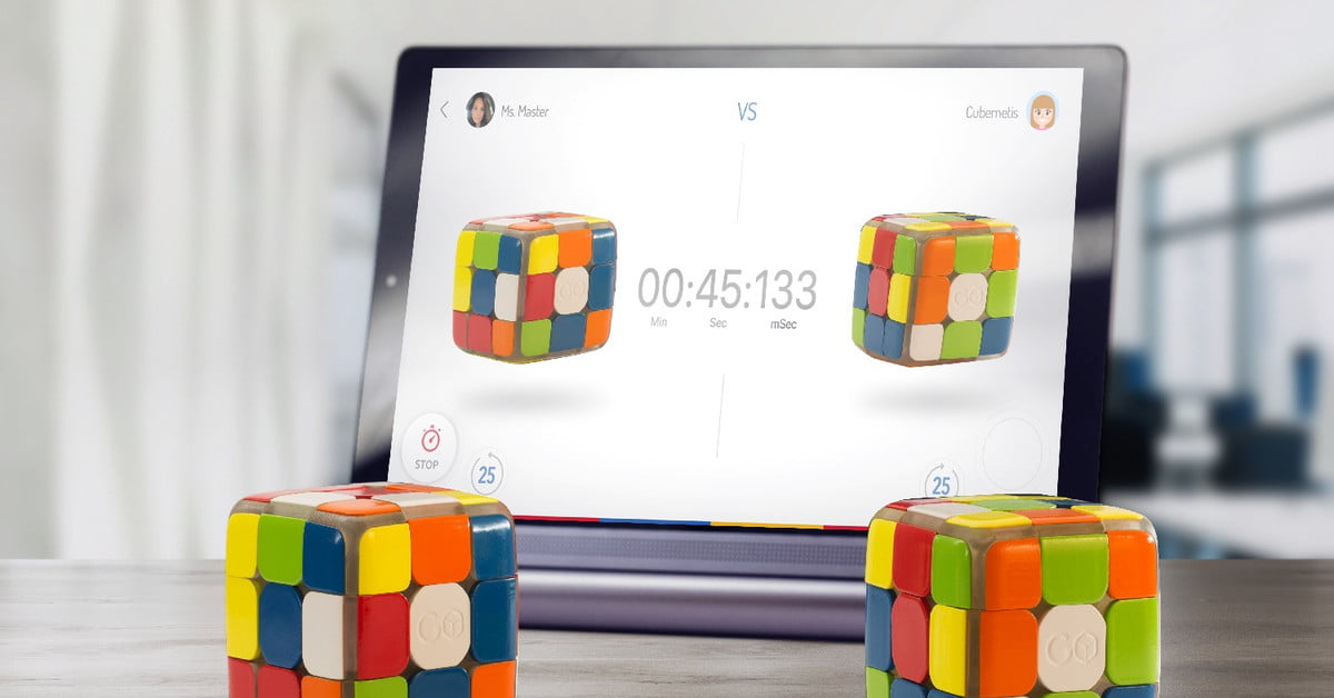 New 'smart' Rubik's Cube tracks your stats, lets you race against other people