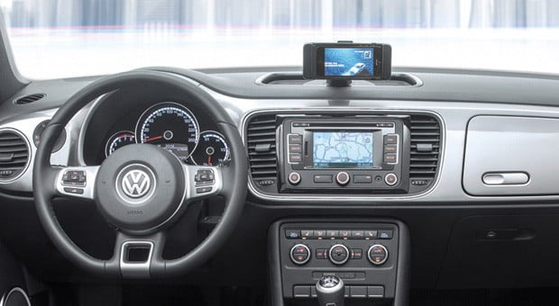 Volkswagen Ibeetle Offers Built In Iphone Dock Custom App