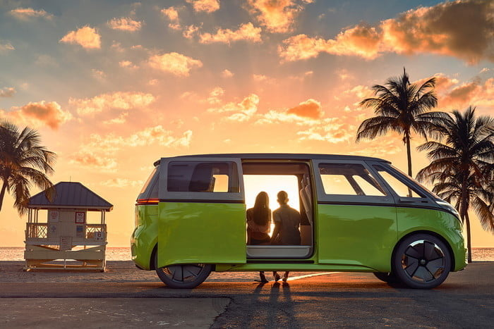 vw electric car vw electric car buzz sunset