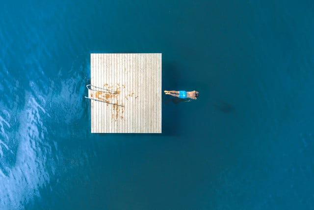 best drone photos water dive