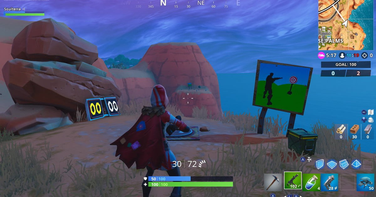 Fortnite season 7, week 10 challenge guide: Score 5 or more at the shooting gallery