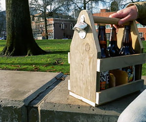 Sling your suds in style with this DIY beer caddy made from a pallet