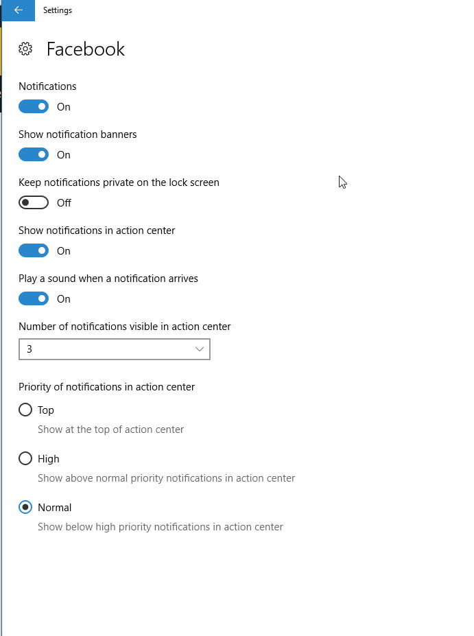 how to configure notifications action center windows 10 app notification customization