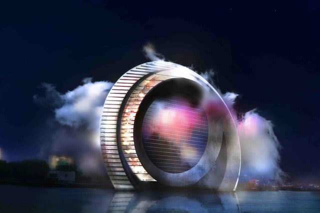 the windwheel is a silent turbine with apartments and great views